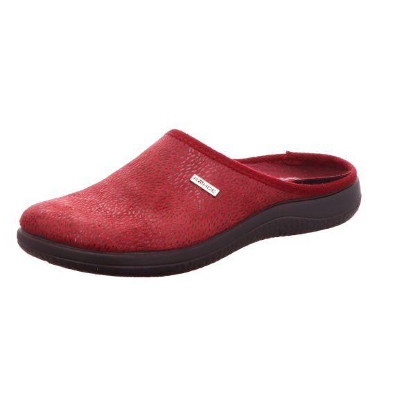 Rohde Damen-Pantoffel mit Warmfutter Rot