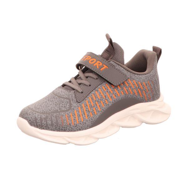 Sneakers Jungen-Slipper-Kletter-Sneaker Grau-Orange