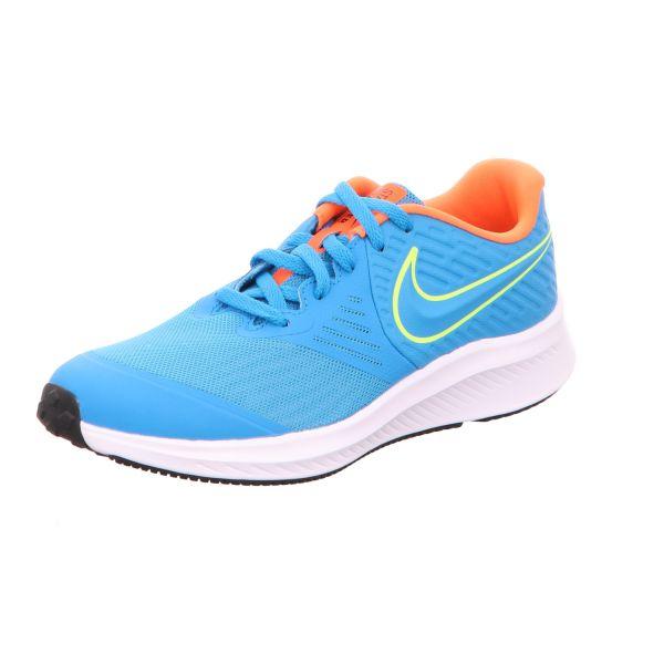 Nike Jungen-Schnürhalbschuh Star Runner 2 Blau
