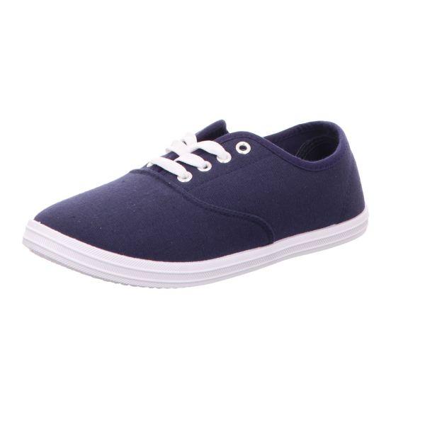Sneakers Damen-Leinenschnürer Blau