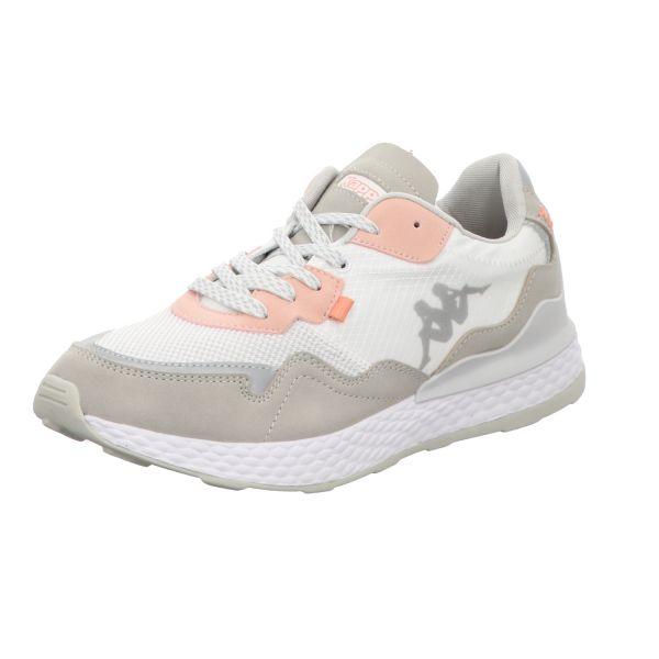 KAPPA Damen-Sneaker LAVERTON Grau-Weiß-Rosa