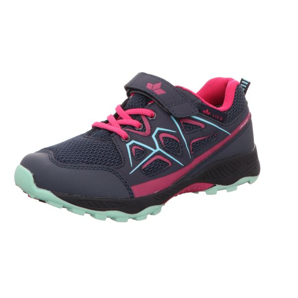 Lico Mädchen-Slipper-Kletter-Sneaker Posadas VS Blau-Pink