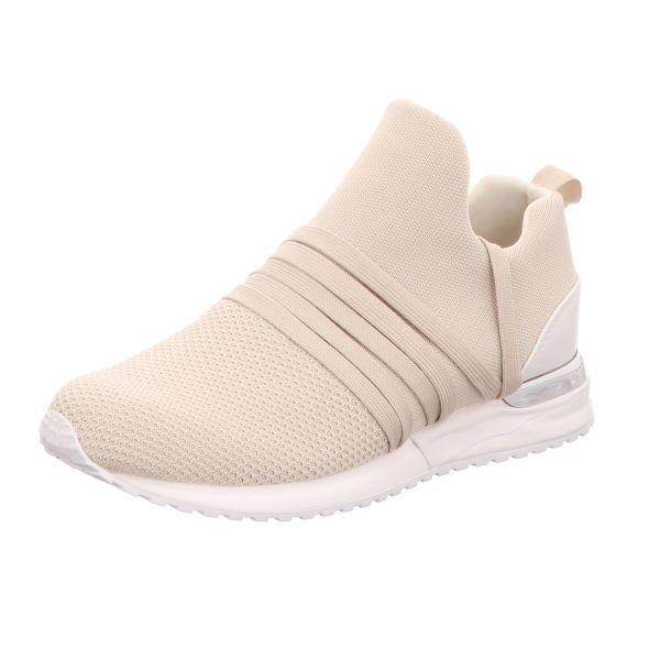 La Strada Damen-Sneaker-Slipper Kitted sneaker with laces Beige