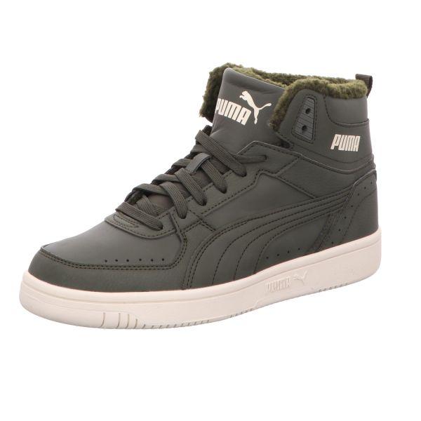 Puma Herren-Sneaker Rebound Joy Fun L Fur Grün-Weiß