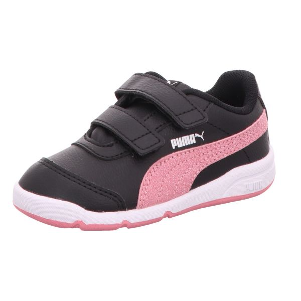 Puma Mädchen-Sneaker-Klettschuh Stepfleex 2 SL VE Glitz FS V I Schwarz-Pink