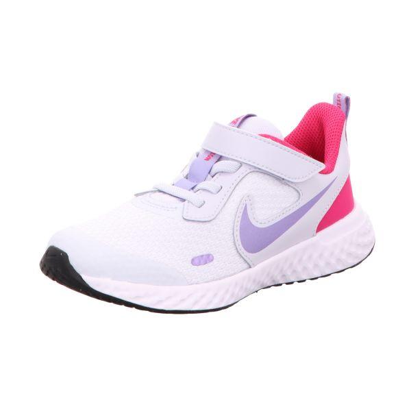 Nike Mädchen-Slipper-Kletter Revolution 5 Grau-Lila