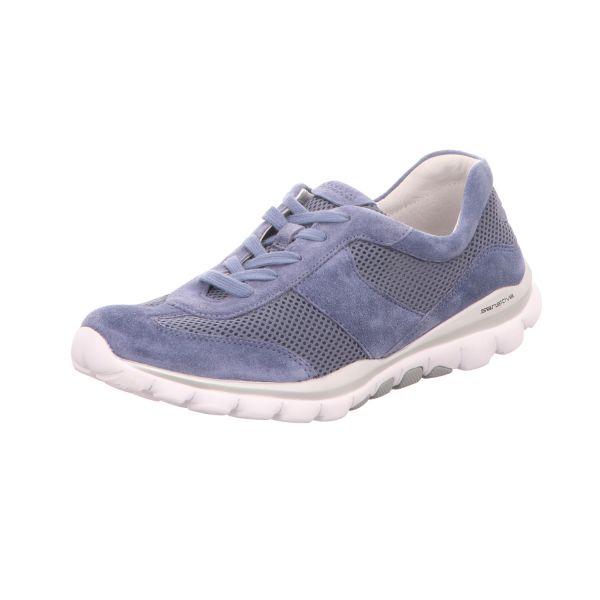 Gabor Comfort Damen-Schnürhalbschuh Blau
