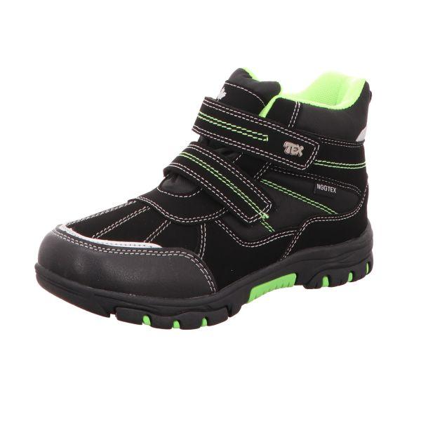 Sneakers Jungen-Tex-Allwetterstiefel Warmfutter Schwarz-Grün