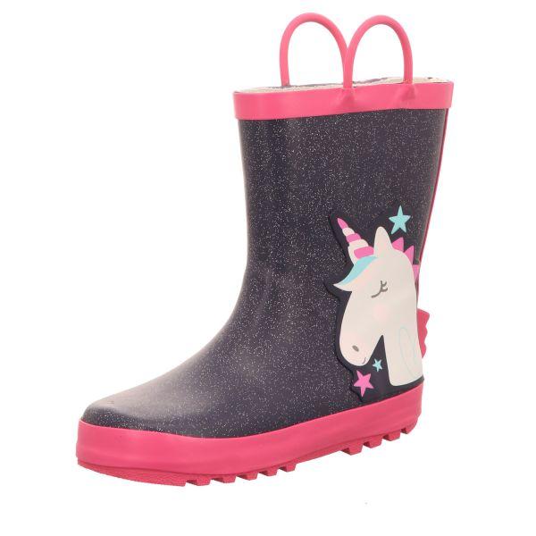 Sneakers Kinder-Gummistiefel Einhorn Blau-Pink