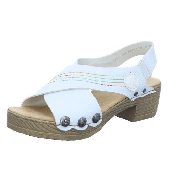 Rieker Damen-Sandalette mit Absatz Weiß