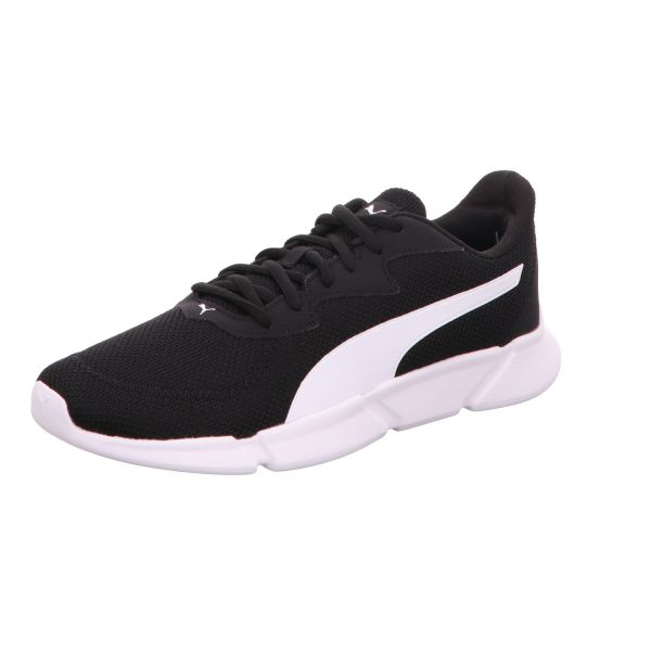 Puma Damen-Sneaker-Schnürhalbschuh INTERLEX Runner Schwarz-Weiß