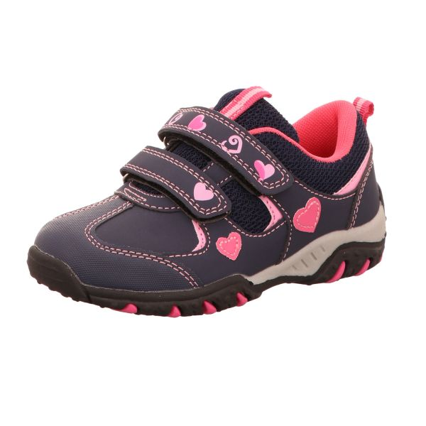 girlZ onlY Mädchen-Slipper-Kletter-Sneaker Blau-Purple-Fuchsia