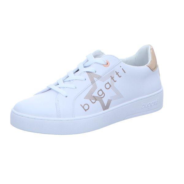 Bugatti Damen-Sneaker-Schnürhalbschuh Weiß