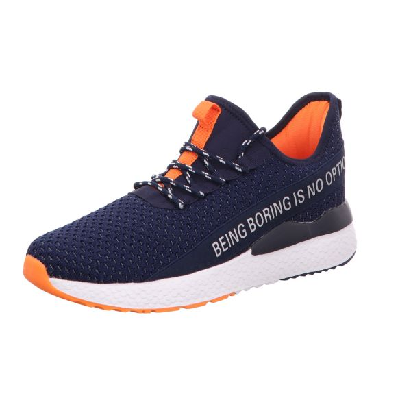 Sneakers Herren-Sneaker Blau-Neon-Orange