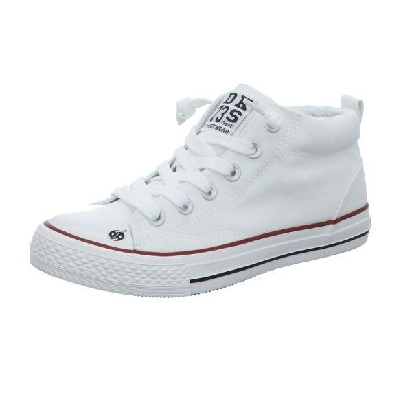 Dockers Jungen-Leinen-Sneaker Weiß