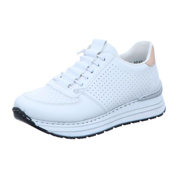 Rieker Damen-Sneaker-Slipper Weiß