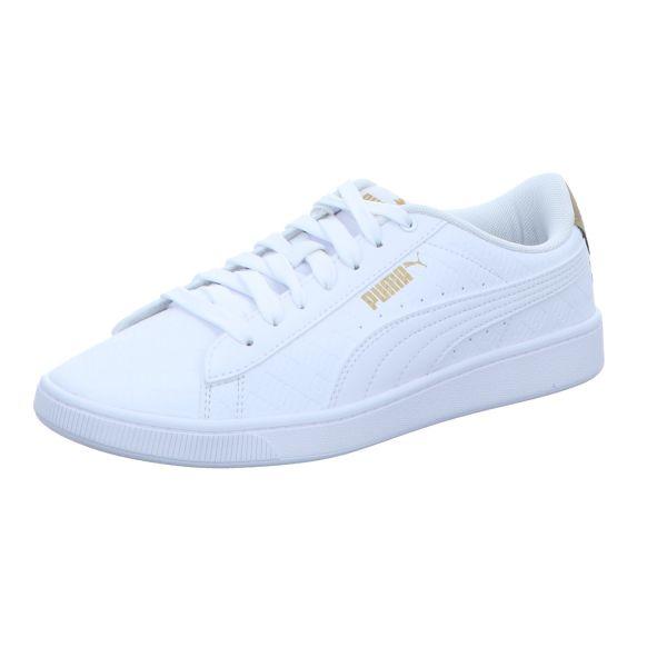 Puma Damen-Sneaker-Schnürhalbschuh Vikky v2 Signature Weiß