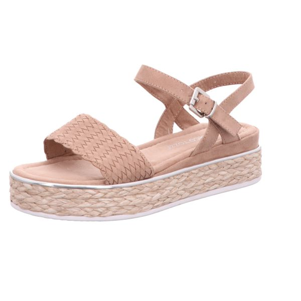MARCO TOZZI Damen-Sandalette mit Keilabsatz Rosa