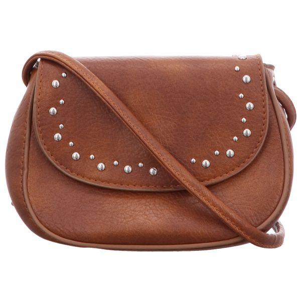 Jewels of Style Damen-Überschlagtasche Braun