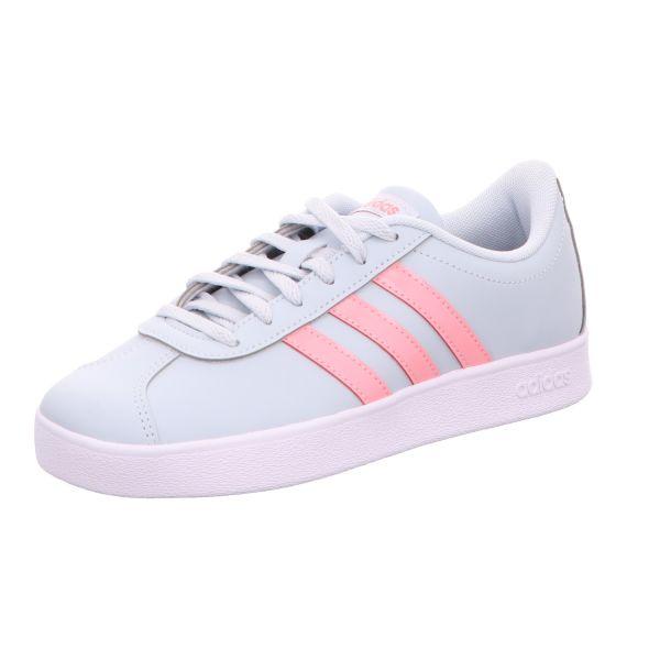 adidas Mädchen-Sneaker VL Court 2.0 K Blau-Rosa