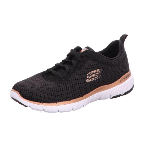 Skechers Damen-Sneaker Flex Appeal 3.0 First Insight Schwarz-Rosa
