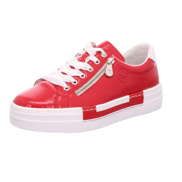 Rieker Damen-Sneaker-Schnürhalbschuh Rot
