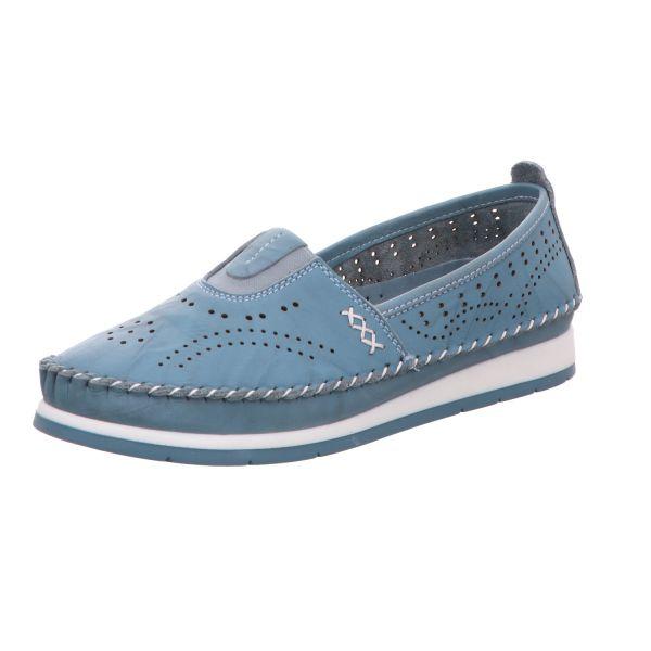 Cosmos Damen-Slipper-Slip-On Blau