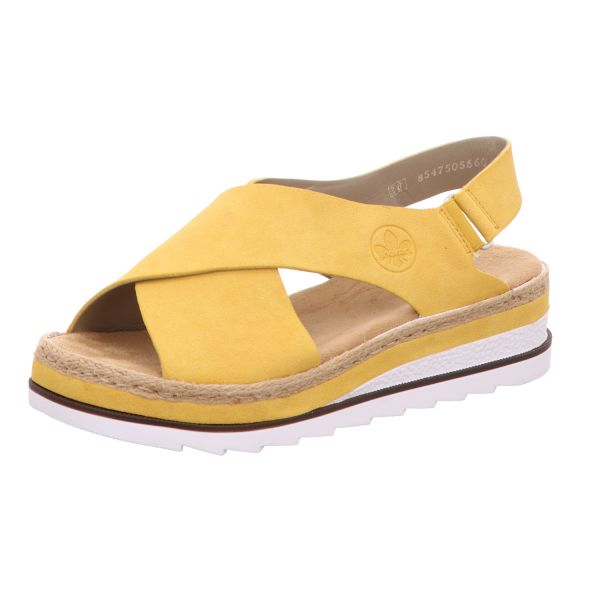 Rieker Damen-Sandalette Gelb
