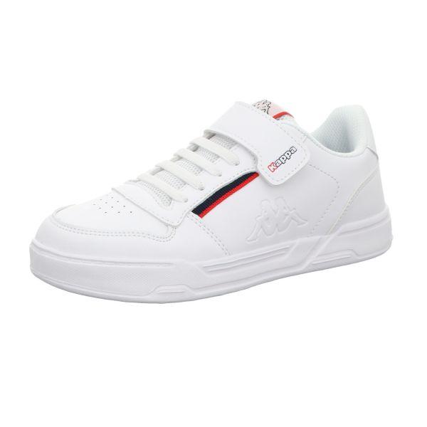 KAPPA Jungen-Slipper-Kletter-Sneaker Marabu II Kids Weiß