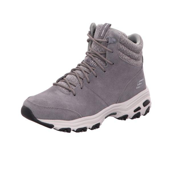 Skechers Damen-Sneaker-Schnürstiefelette D´Lites Chill Flurry Grau