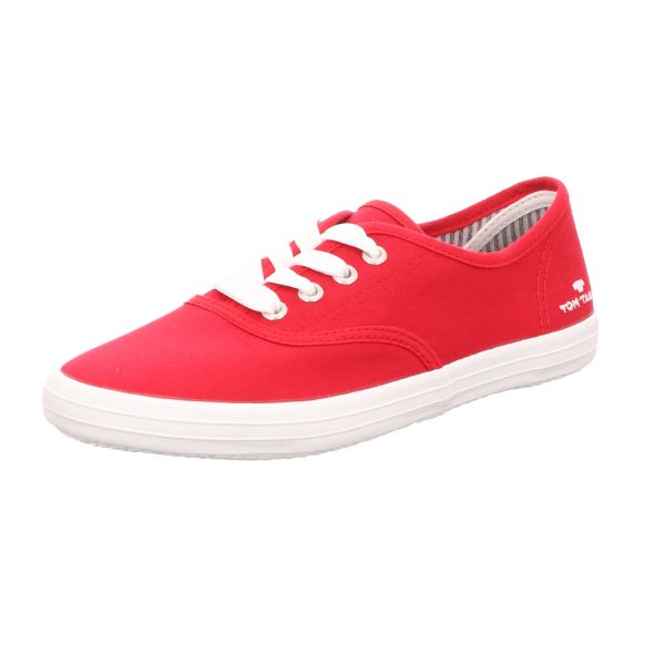 Tom Tailor Damen-Leinen-Sneaker Rot