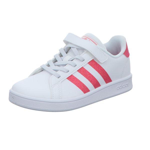 Adidas Mädchen-Slipper-Kletter Grand Court C Weiß