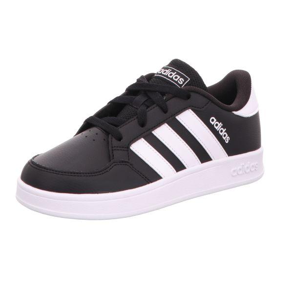 adidas Jungen-Sneaker Breaknet K Schwarz-Weiß