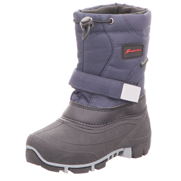 Sneakers Jungen-Tex-Allwetterstiefel Warmfutter Blau-Schwarz