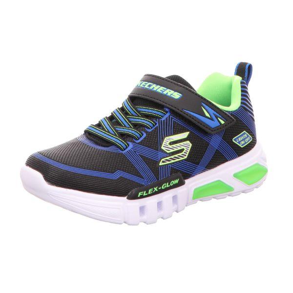 Skechers Jungen-Slipper-Kletter Flex-Glow Schwarz
