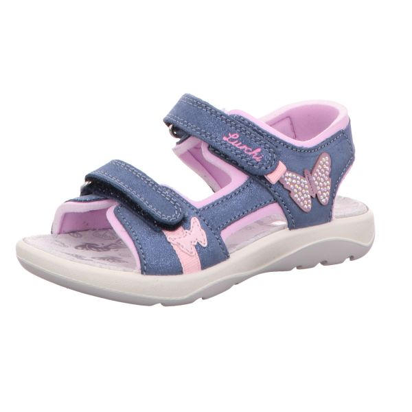 Lurchi Mädchen-Sandale Fia Blau-Rosa