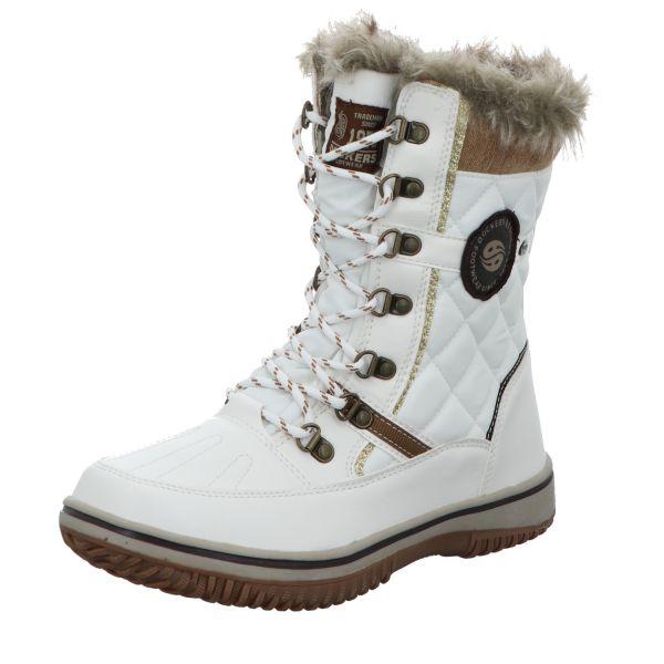 Dockers Damen-TEX-Stiefel gefüttert Weiß