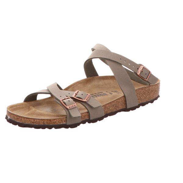 Birkenstock Damen-Sandalette mit Tieffußbett Blanca Grau