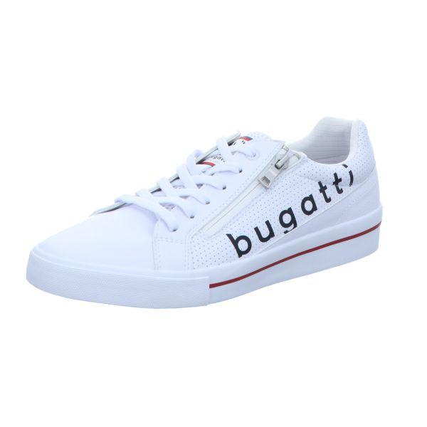 Bugatti Herren-Schnürhalbschuh Gang Weiß