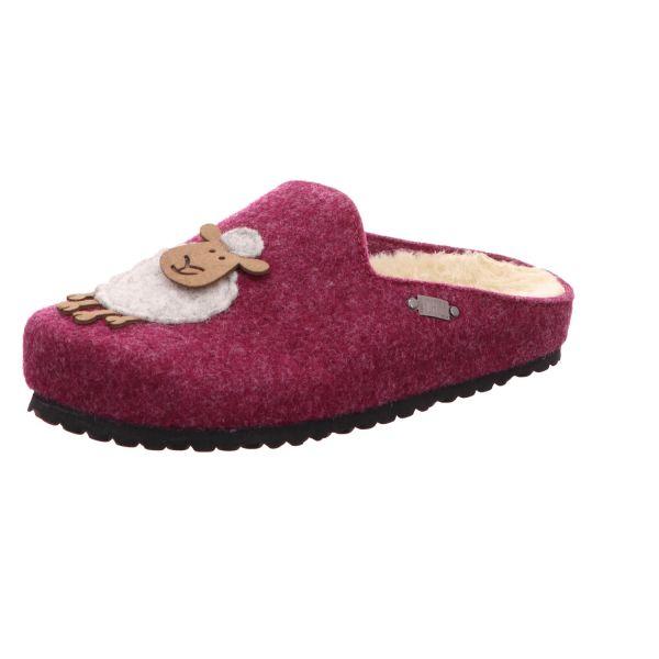 Home Comfort Damen-Pantoffel mit Warmfutter Schaf Rot