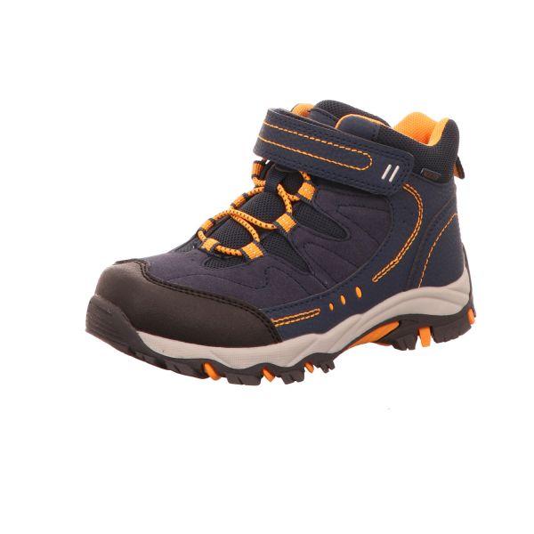 Sneakers Jungen-Allwetterstiefel Blau-Orange