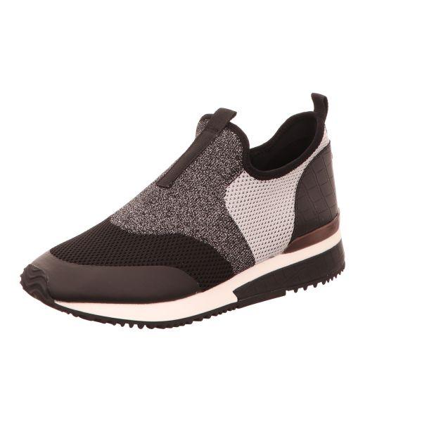 La Strada Damen-Sneaker-Slipper Schwarz-Silber-Grau