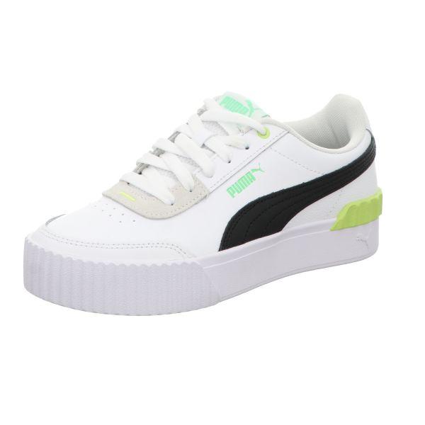 Puma Damen-Sneaker Carina Lift Weiß-Schwarz-Grün