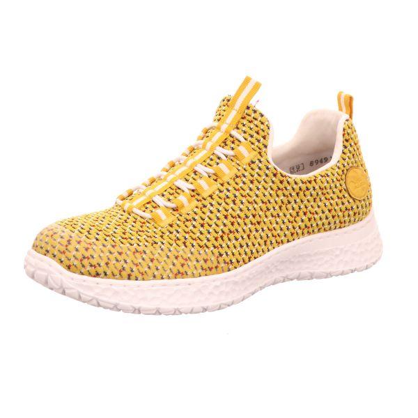 Rieker Damen-Sneaker-Slipper Gelb