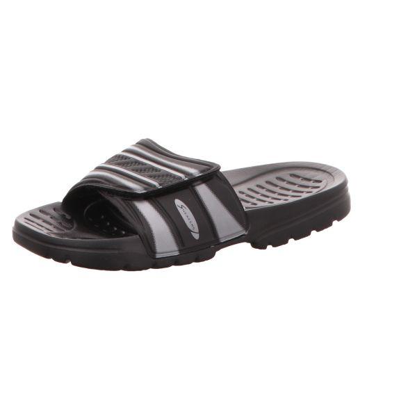 Sneakers Damen-Badepantolette Schwarz-Silber
