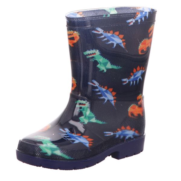 Sneakers Jungen-Gummistiefel Dinosaurier Blau