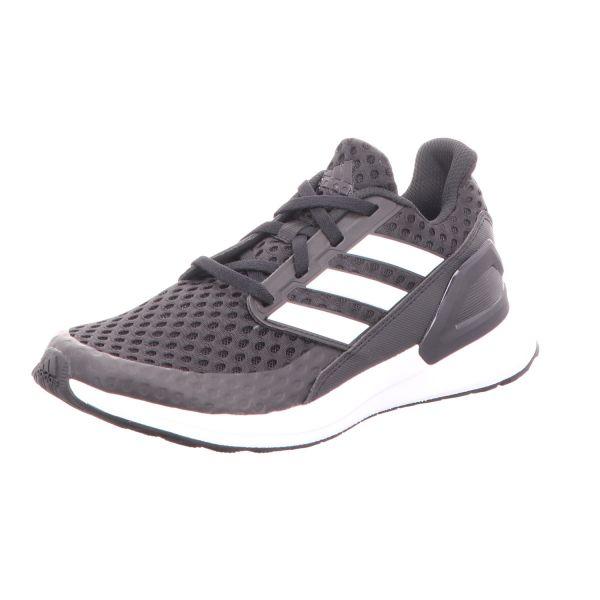 Adidas Jungen-Sneaker RapidaRun J Schwarz-Weiß