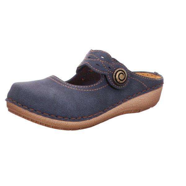 inblu Damen-Sabot-Clog Blau
