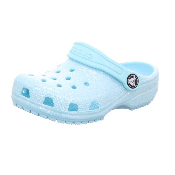 Crocs Mädchen-Badeschuh Classic Glitter Clog K Eis-Blau