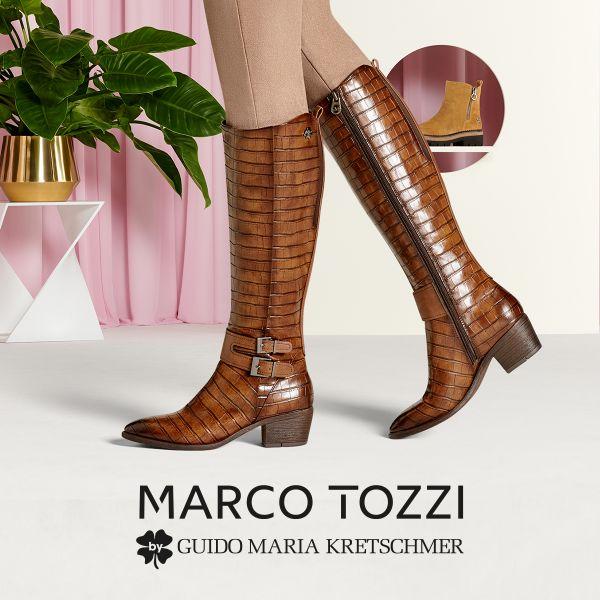 MARCO TOZZI by GMK Damen-Schaftstiefel Braun